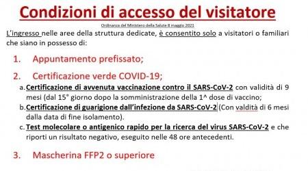 condizioni di accesso del visitatore